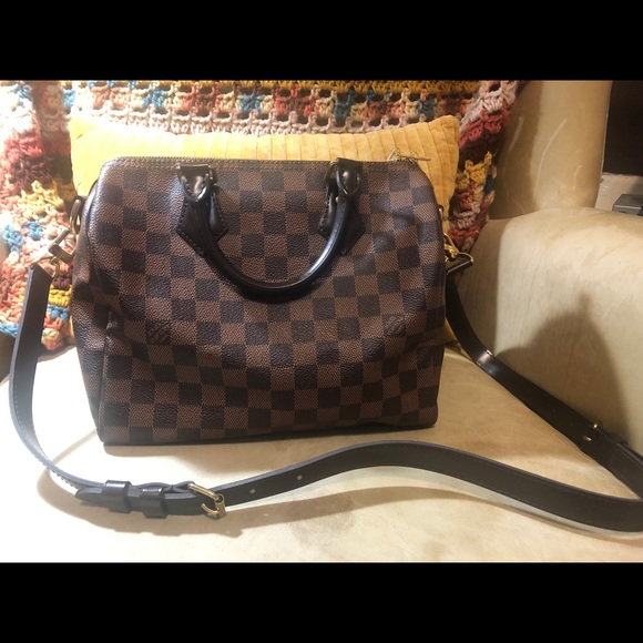 5908e86f314d Louis Vuitton Handbags - Louis Vuitton Speedy Bandouliere 25 Damier Ebene